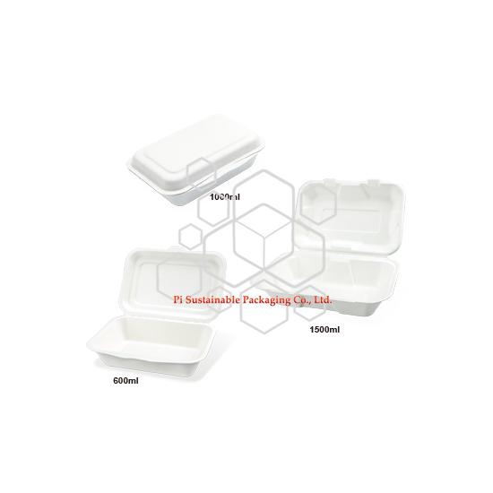 Sortez les récipients d'emballage du grade alimentaire du pâte papier biodégradable canne à sucre