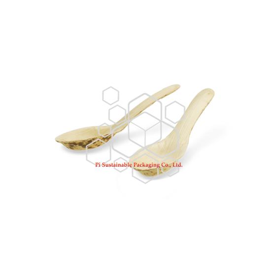 Cucharas desechables bambú hoja del estilo chino