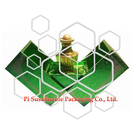 Coffret emballage ecologique de flacon parfum vide pouvant être utilisé dans les cosmétiques  et huiles essentielles