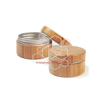 Bamboo eco friendly cosmetic skincare containers